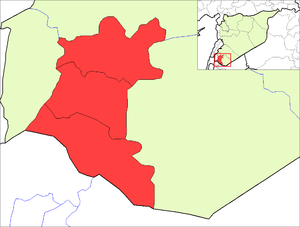 Map of the districts of Daraa governorate in S...