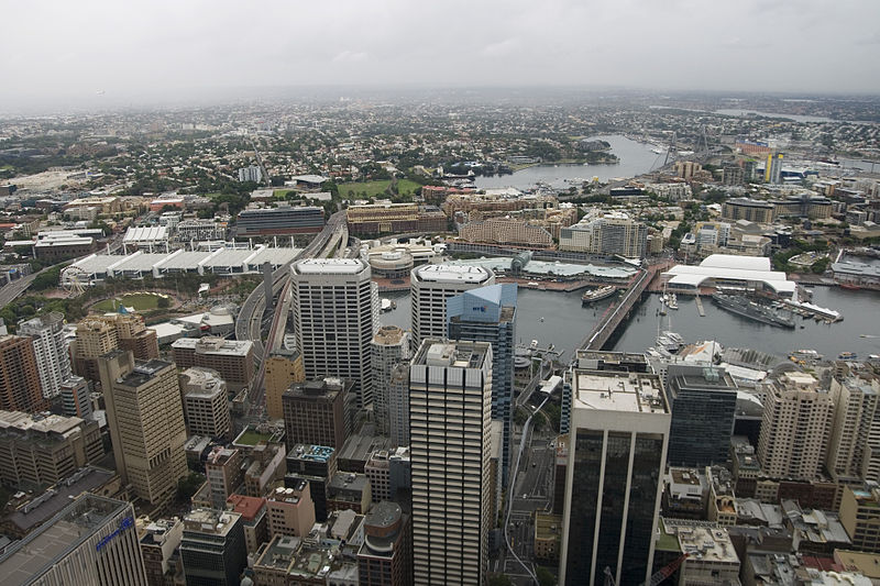 File:Darling Harbour view from Sydney Tower.jpg