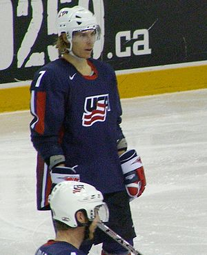 David Booth (ice hockey) - Booth representing the United States at the 2008 IIHF World Championships