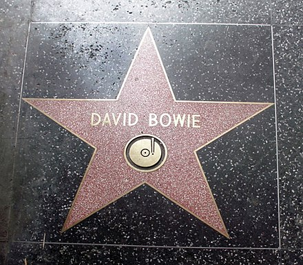 Bowie's star on the Hollywood Walk of Fame David Bowie holywood.jpg