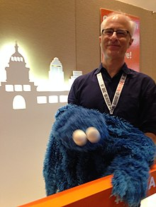 David Rudman Cookie Monster puppeteer at SXSW 2015.jpg