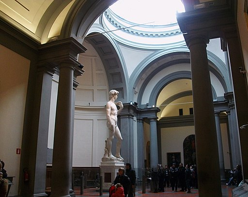 Michelangelo's David on display at the Academy Gallery
