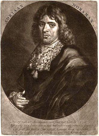 Adriaan Dortsman - Portrait of Dortsman by David van der Plas