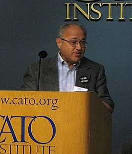 David Friedman sprekend op het Cato Institute (Washington D.C. 6 november 2008)