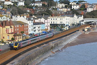 Dawlish town and civil parish in Teignbridge on the south coast of Devon in England