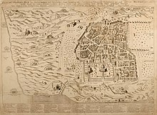 A detailed map of Jerusalem from the 18th century
