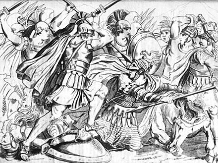 Death of Masistius in early skirmishes. Death of Masistius.jpg