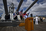 Defense.gov News Photo 120718-F-MQ656-148 - Deputy Secretary of Defense Ashton B. Carter talks to U.S. Pacific Command personnel aboard the USS Missouri BB 63 Memorial in Honolulu Hawaii on.jpg