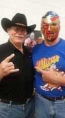 "Del ""The Patriot"" Wilkes with Stan Hansen from 2015.jpg"