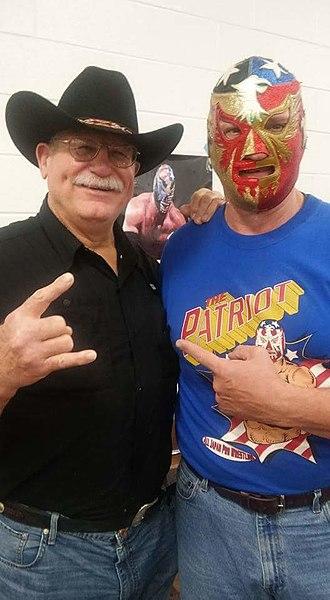 The Patriot (wrestler) - Del Wilkes (right) with Stan Hansen, 2015