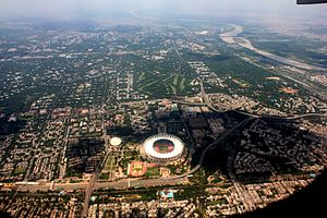 Delhi - Aerial view of Delhi, April 2016