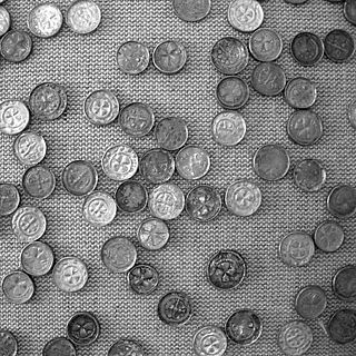 A medieval treasure hoard found in the village of Słuszków in Poland