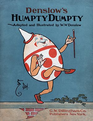 English: Cover of a 1904 adaptation of Humpty ...