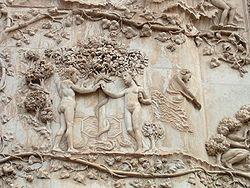 Adamo ed Eva rappresentazione del Duomo di Orvieto