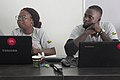 Deux wikimédiens du Bénin - WLA2019.jpg