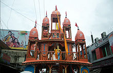 A The newly constructed Rath of Dhamrai.
