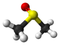 Ball and stick model of dimethyl sulfoxide