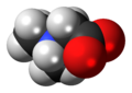 Dimethylglycine zwitterion 3D spacefill.png