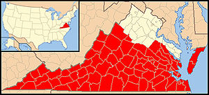 Roman Catholic Diocese of Richmond - Image: Diocese of Richmond map 1
