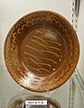 Dish, probably by Hervey Brooks, Goshen CT, lead-glazed redware, white slip, item HD 2013.7.9 - Flynt Center of Early New England Life - Deerfield, Massachusetts - DSC04064.jpg
