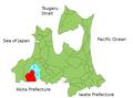 District Nakatsugaru Aomori Map.PNG