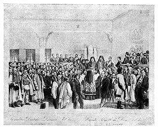 Wallachia's ad-hoc divan in 1857