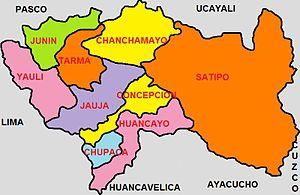 Resultado de imagen de satipo mapa