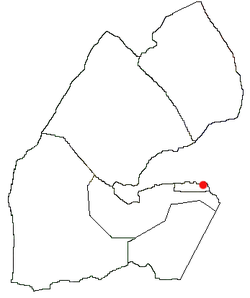 Location of Djibouti City in Djibouti