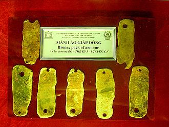 Body armor - Bronze lamellae, Vietnam, 300 BC – 100 BC