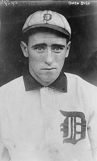 Donie Bush - Bush in 1910 with the Detroit Tigers.