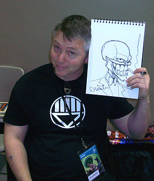 Doug Mahnke - Mahnke at Emerald City Comicon in 2010
