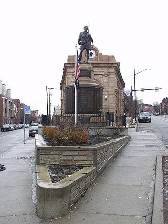 Butler Street - Butler St. (left) splits from Penn Ave. (right) at Doughboy Square