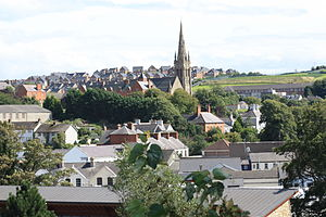 Downpatrick - Image: Downpatrick view (02), August 2009