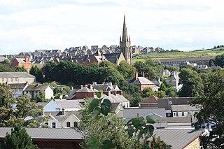 Downpatrick Town in Northern Ireland