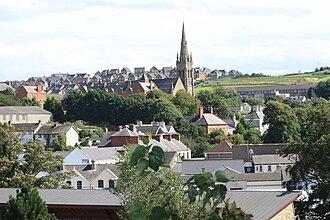 Downpatrick - Image: Downpatrick view (02), August 2009