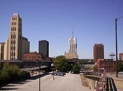 Skyline of downtown Akron