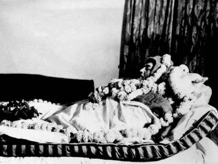 Dr. Babasaheb Ambedkar as he passed away in his sleep at his residence 26, Alipore Road, New Delhi on 6 December 1956