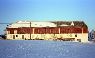 Dragvoll - The barn which burned down in 1981