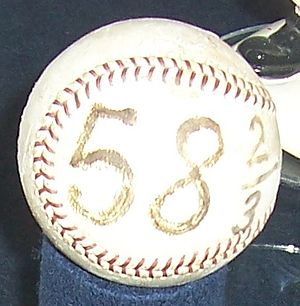 Don Drysdale - The ball thrown for the final out of Drysdale's 1968 consecutive scoreless innings streak.