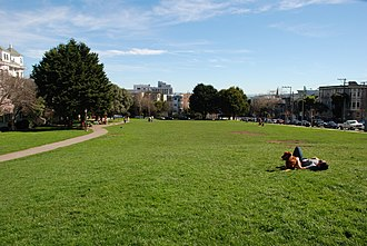 Duboce Park - View of Duboce Park, facing east.