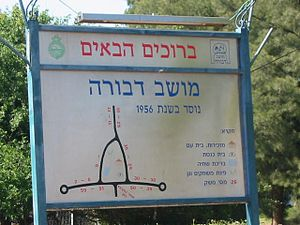 Dvora, Israel - Entrance sign