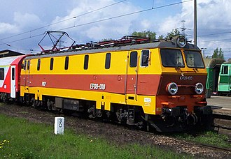 PKP class EP09 - EP09-010 locomotive in Warsaw