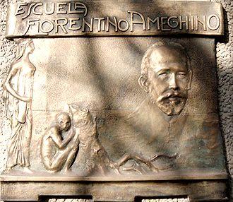 Florentino Ameghino - Homage to Florentino Ameghino, by the sculptor Erminio Blotta