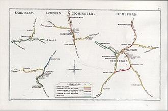 Shrewsbury and Hereford Railway - Image: Eardisley, Lydford, Leominster, Hereford RJD 34