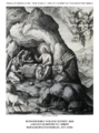 Early life of Christ in the Bowyer Bible print 17 of 21. angels minister to Jesus in the wilderness. Passeri.png