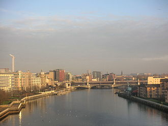River Clyde - The River Clyde at Glasgow's Broomielaw