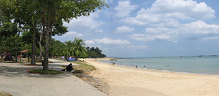 The entire East Coast Park in Singapore was built on reclaimed land with a man-made beach.