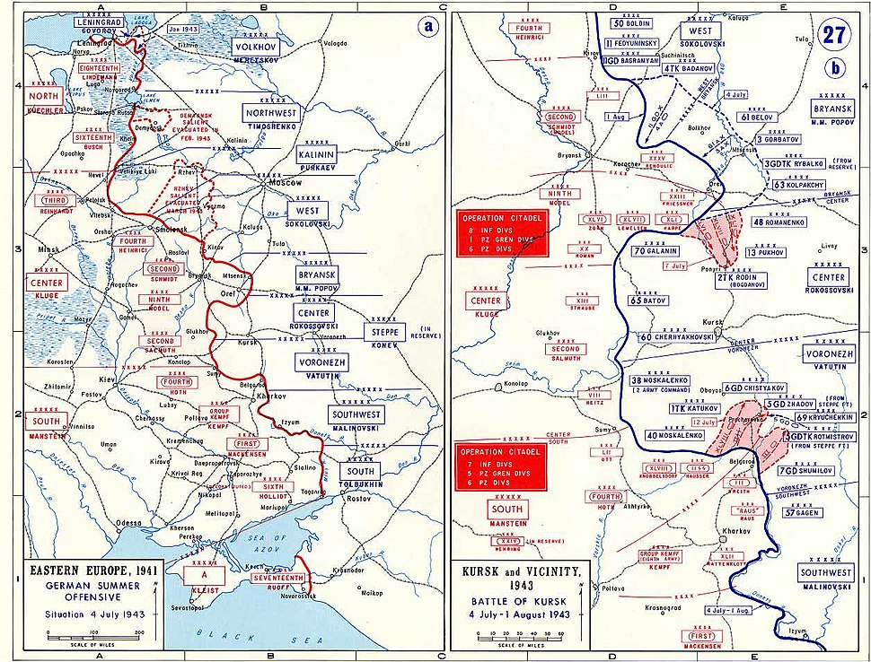 Eastern Front - 4 July-1 Aug 1943