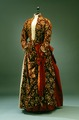 Ebba von Eckermans klänning. Röd - brun - Hallwylska museet - 4805.tif