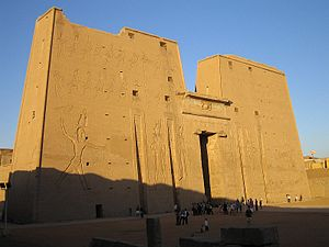 The front o the Temple o Edfu
